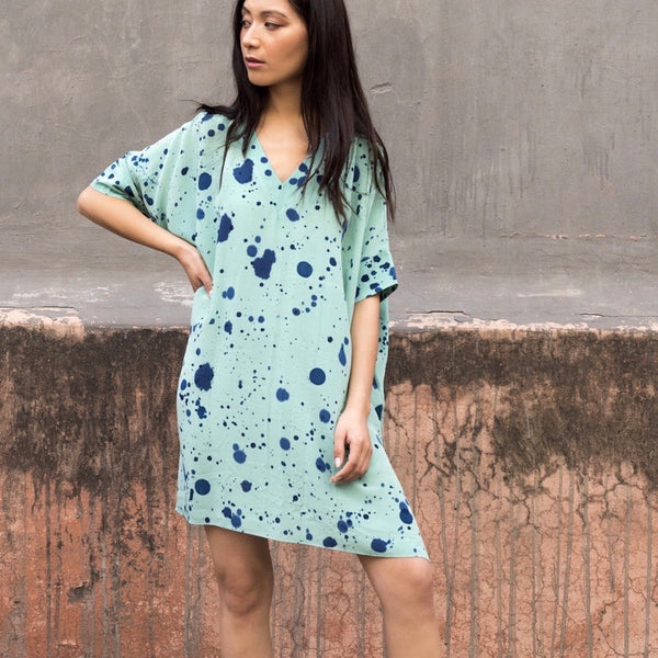 Maeve - Pure Hand painted Silk Crepe Tunic