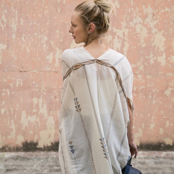 Helen - Hand Spun Handwoven Cotton Robe
