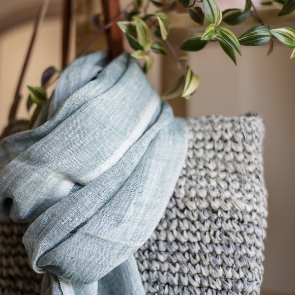 Mariam - Hand Woven Pure Linen Scarf
