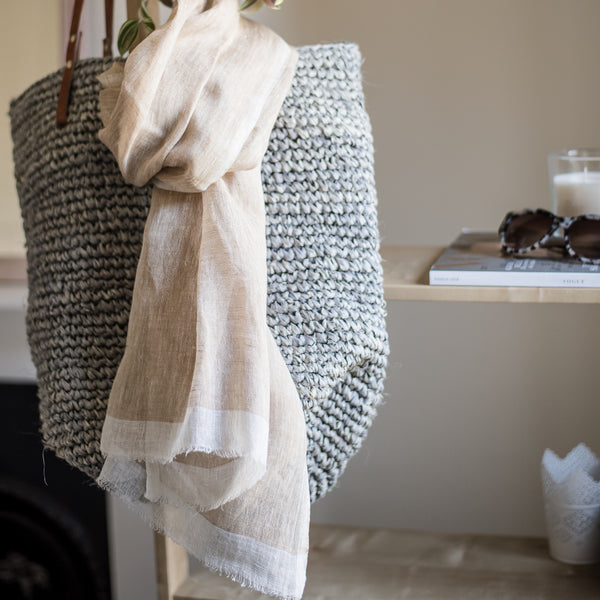 Mariam - Hand Woven Pure Linen Scarf From Ethiopia