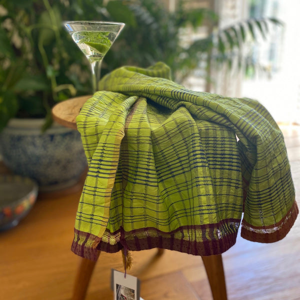 Gertie -  Mulberry Silk  and Khadi Cotton Shawl