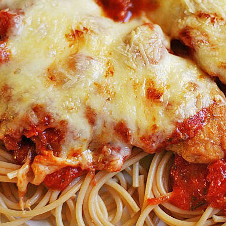 Luigi's Pizza and Pasta of North Hills - Glenside PA. Family Sized Chicken Parmigiana Italian Dinner, pickup or delivery.