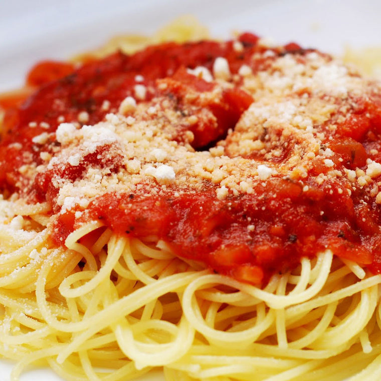 Luigi's Pizza and Pasta of North Hills - Glenside PA. Family Sized Spaghetti with Tomato Sauce Italian Dinner, pickup or delivery.
