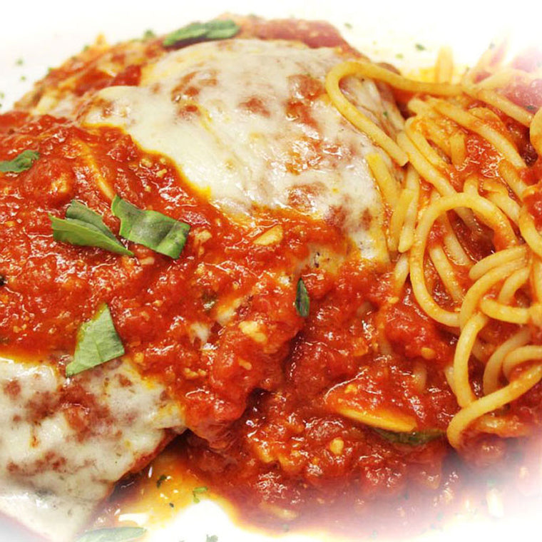 Luigi's Pizza and Pasta of North Hills - Glenside PA. Family Sized Veal Parmigiana Italian Dinner, pickup or delivery.