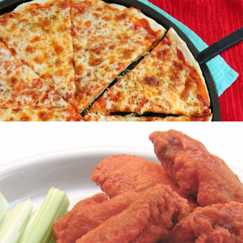 Large Plain Pizza, 20 Buffalo Chicken Wings Special