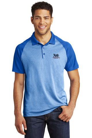 Sport-Tek® PosiCharge® RacerMesh® Raglan Heather Block Polo