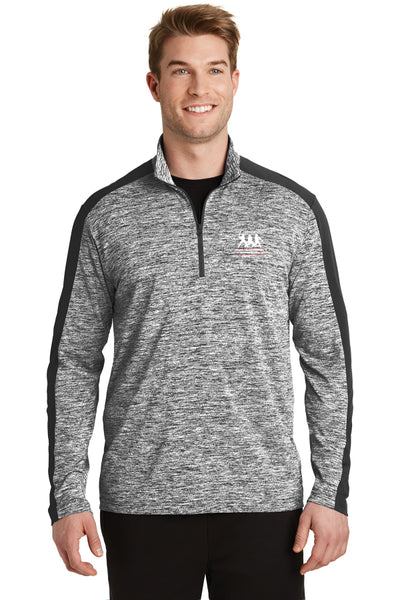 Sport-Tek® Electric Heather Colorblock 1/4-Zip Pullover