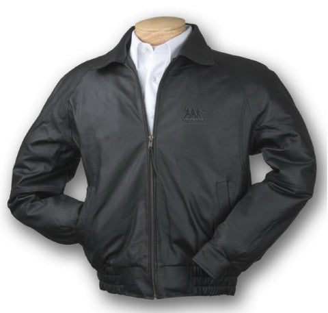 Burk's Bay Napa Classic Black Leather Jacket
