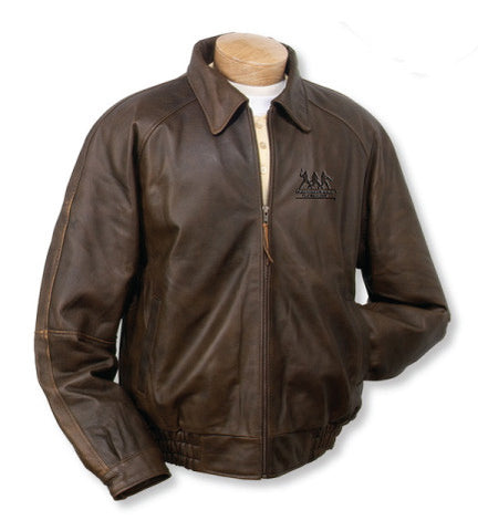 Burk's Bay Distressed Classic Brown Leather Jacket