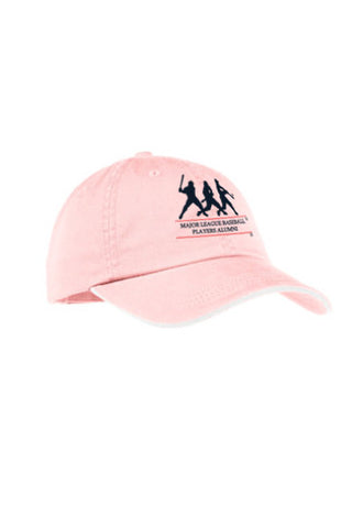 Women's Sandwich Bill Cap with Striped Closure