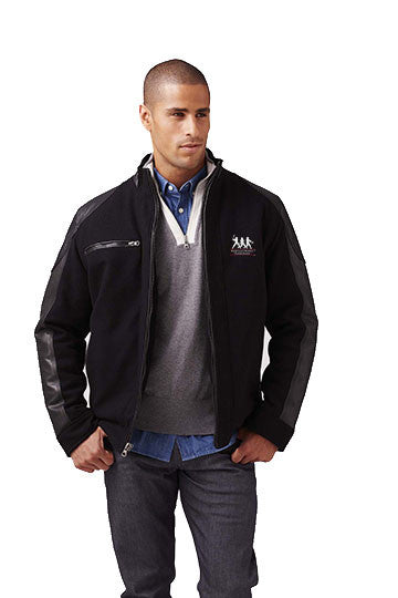 Burk's Bay Wool & Leather Black Driving Jacket