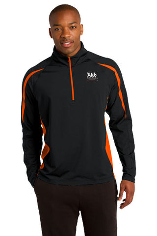 Sport-Wick® Stretch 1/2-Zip Colorblock Pullover