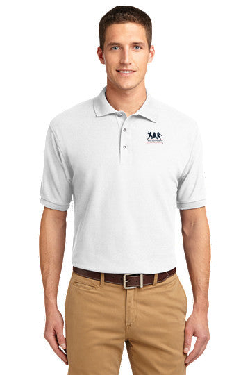 Tall Silk Touch White Polo with FREE T-SHIRT