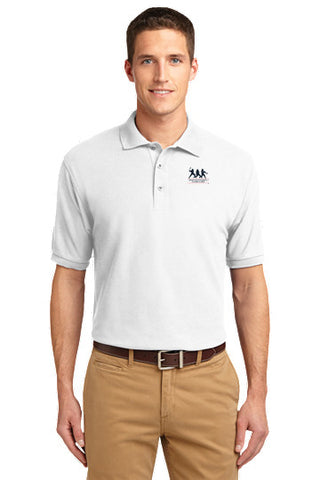 Silk Touch White Polo with FREE T-SHIRT