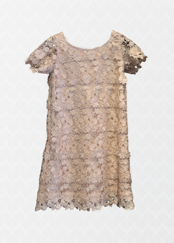 Pink-Nude Lace Dress