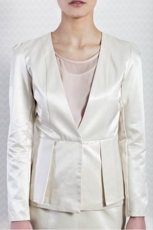 Ivory Two-Piece Skirt Suit
