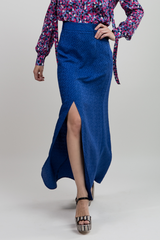 Cobalt Blue Maxi Skirt