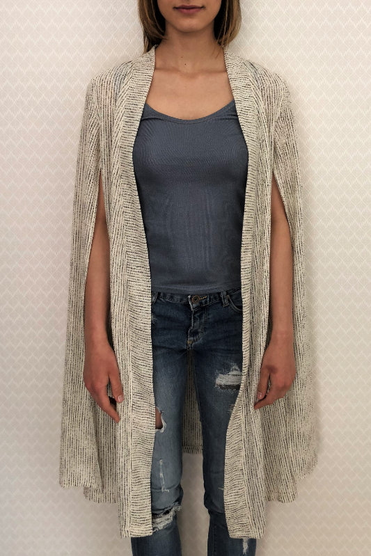 Box Knit Linen Cardigan