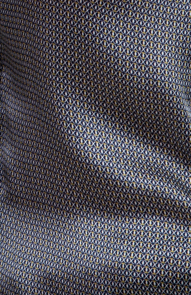 Navy Pattern Shirt Close up Pattern Detail