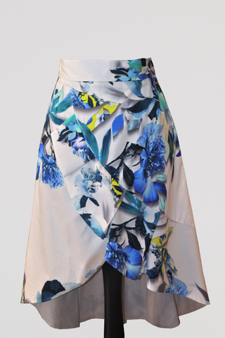 Ivory Hand Painted Two-Piece Skirt Suit