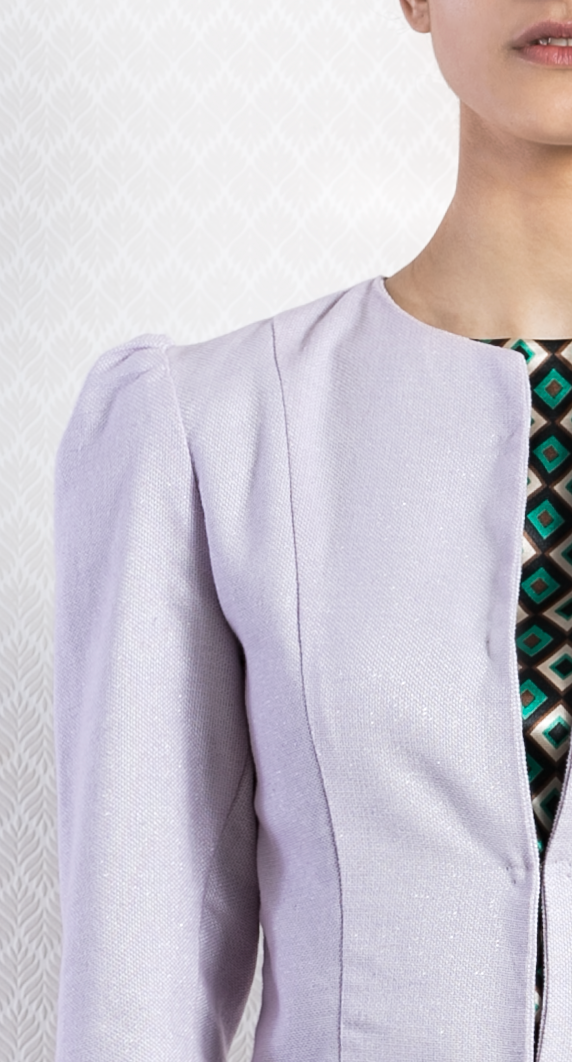Ladies Formal Casual Lilac Cotton Blazer Designer