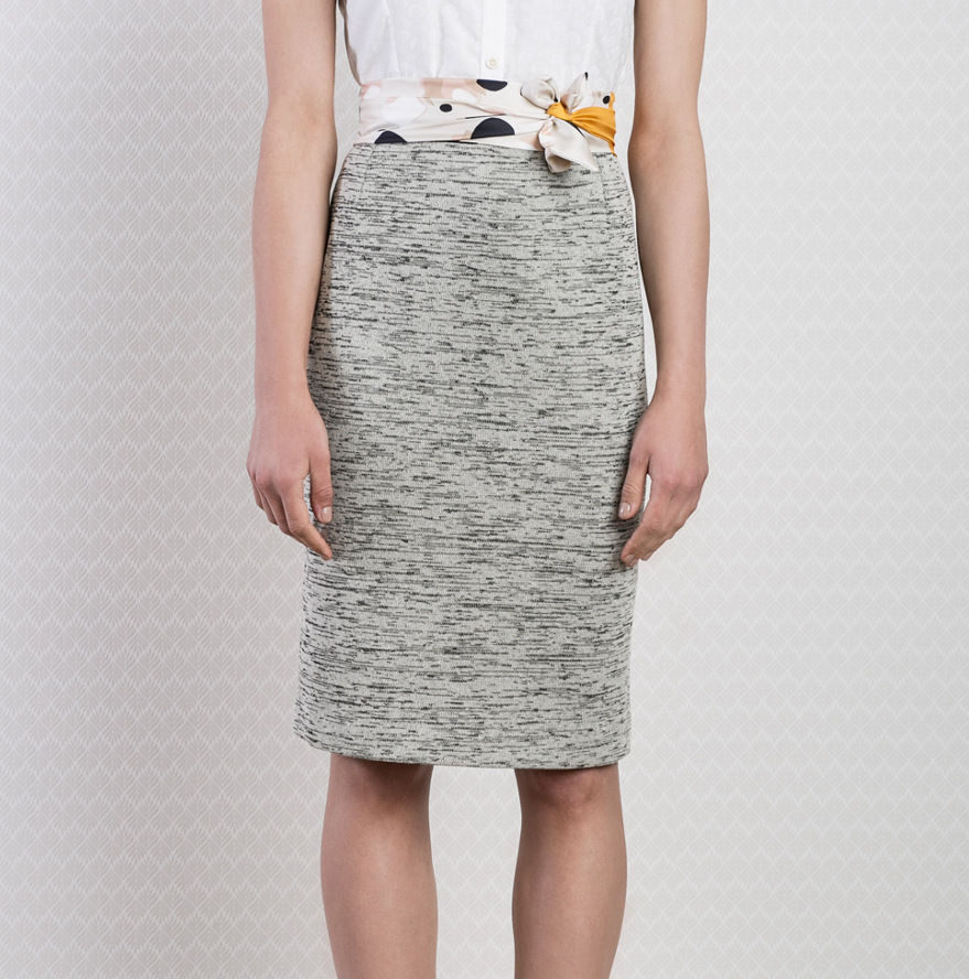 Cotton Stretch Pencil Skirt