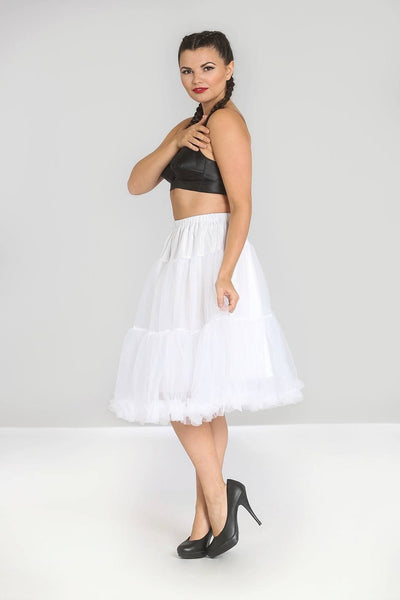 Hell Bunny Polly Petticoat in White