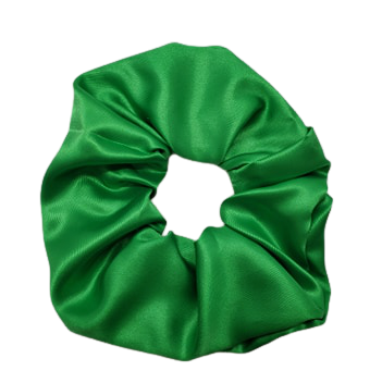 Kare Scrunch Green Satin Scrunchie