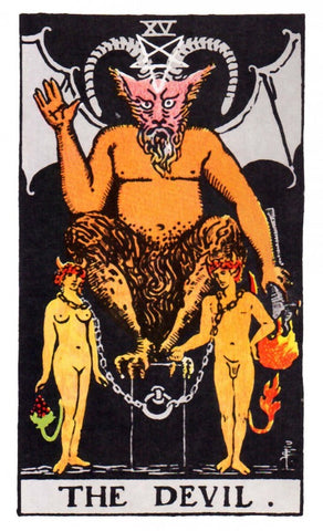 Small Devil Tarot Card Sticker