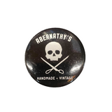 Abernathy's Skull and Scissors Button