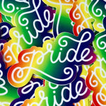 A Fink and Ink Rainbow Pride Vinyl Stickers