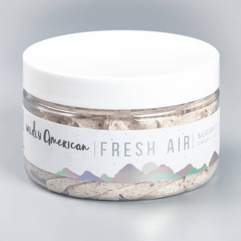 Wildly American Fresh Air Sugared & Whipped Soap Scrub