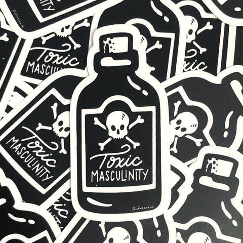 A Fink and Ink Toxic Masculinity Poison Bottle Vinyl Stickers