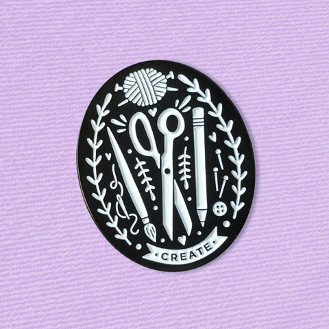 A Fink and Ink Creator's Club Art & Craft Supplies Enamel Pin