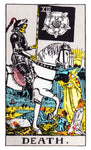 Large Death Tarot Card Sticker