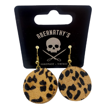 Fervent Chirps- Faux Leopard fur Earrings
