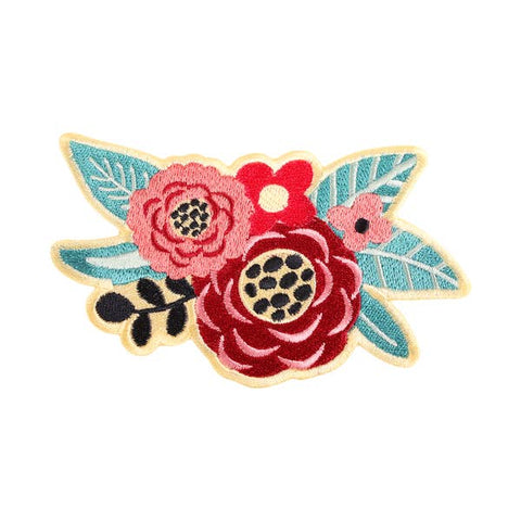 Patches and Pins Floral Wreath