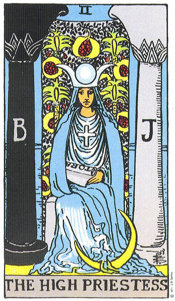 Large High Priestess Tarot Card Sticker