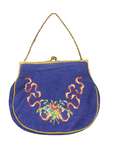 Vintage Blue Embroidered Purse