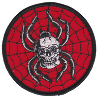 Sourpuss Spider Skull Patch