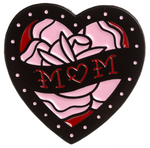 Sourpuss Mom Heart Enamel Pin
