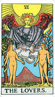 Large The Lovers Tarot Card Stickers