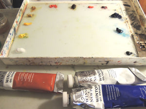 How I set up my paint palette