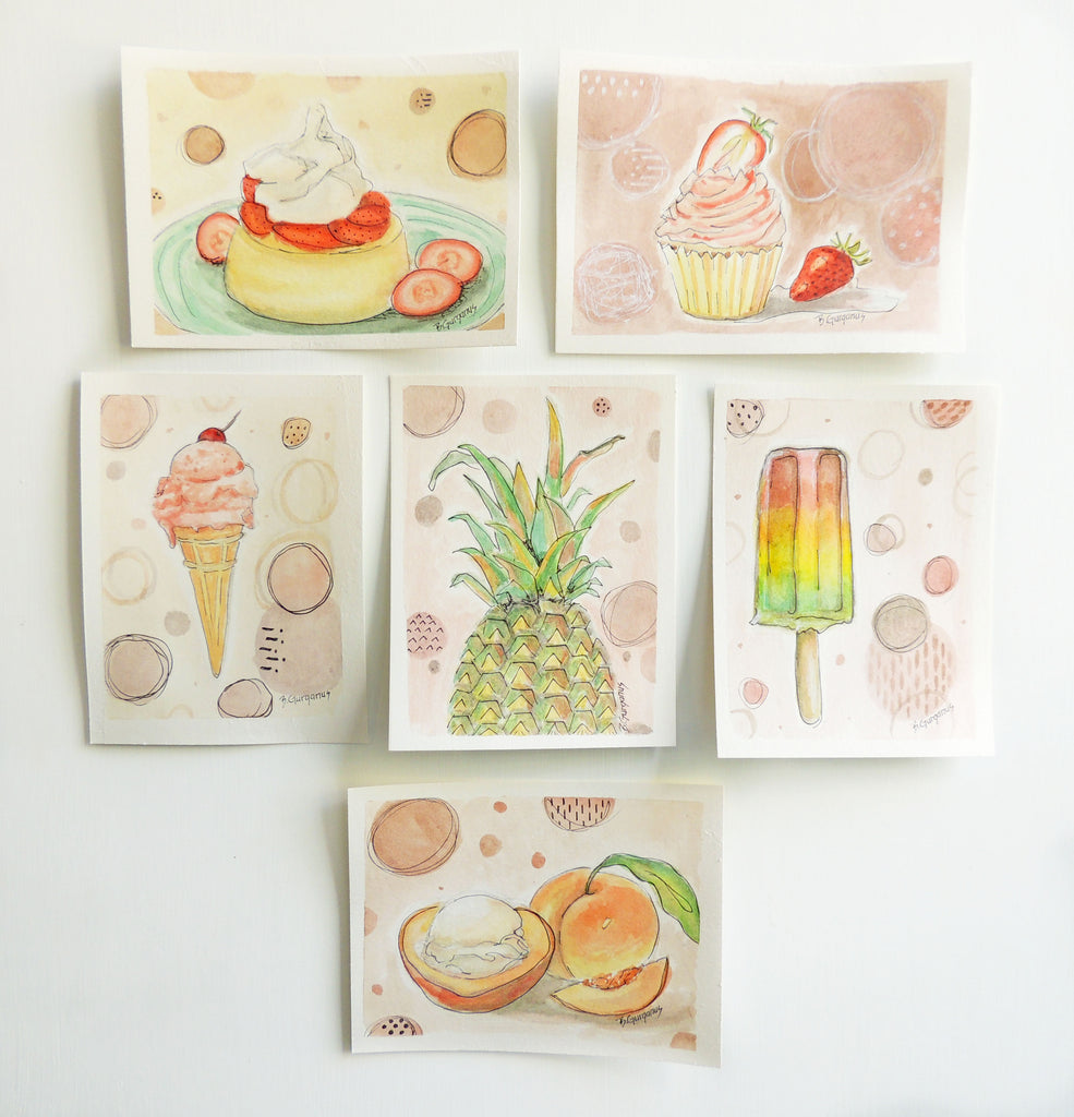 Summer Never Tasted So Good | art lesson for kids | Beverly Gurganus Fine Art