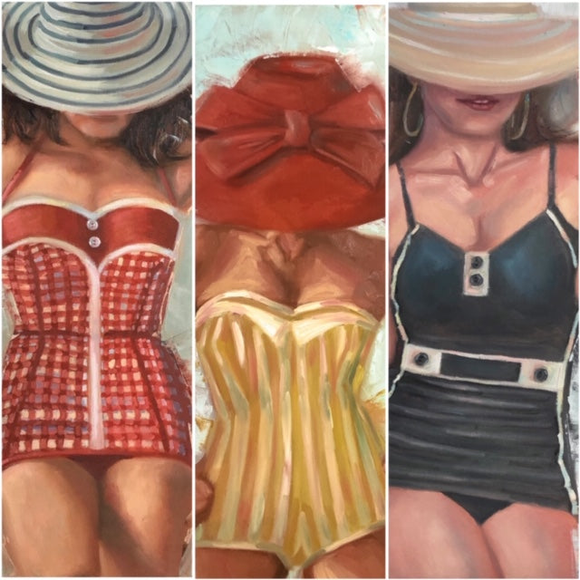 Vintage Babes | Exhibited at Beach Gallery | Beverly Gurganus Fine Art