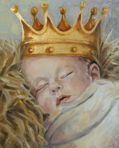 A King Is Born | Gold leaf painting | Beverly Gurganus Fine Art
