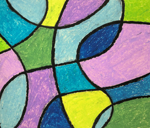 Colorful Abstract Art | Easy art lesson for children | Beverly Gurganus Fine Art