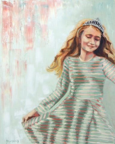 Twirly Dresses oil paintings by Beverly Gurganus