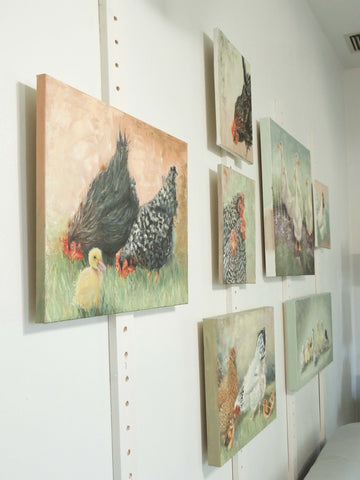 studio refresh | art display | Beverly Gurganus Fine art