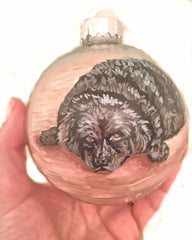 hand painted christmas ornament by Beverly Gurganus